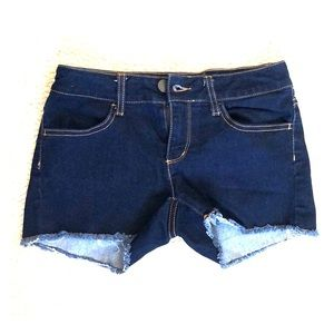 No Boundaries Dark Jean Shorts
